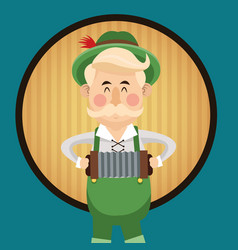 Man cartoon oktoberfest desig vector