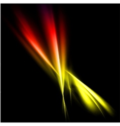 Abstract yellow and red rays lights vector image