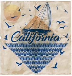 California miami summer t shirt graphic design vector