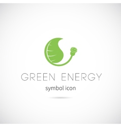 Green energy concept symbol icon or label vector
