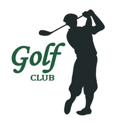Golf club sign - vector
