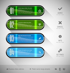 Glossy banners vector