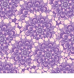 Beautiful pattern with purple flowers vector