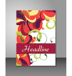 Multicolored cover design vector