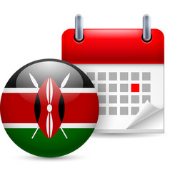 Icon of national day in kenya vector