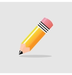Yellow pencil isolated eps10 vector