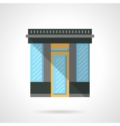 Market storefront flat color design icon vector