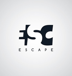 Escape letter theme logotype vector