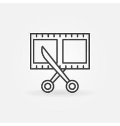 Film strip with scissors icon vector image
