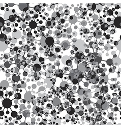 Molecule seamless pattern vector image