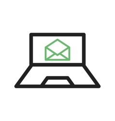 Email on laptop vector