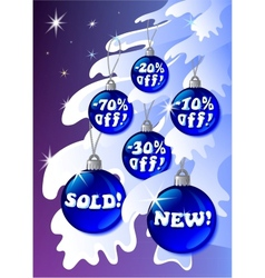 Discount christmas labels vector