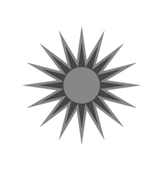 Black design element icon sun vector