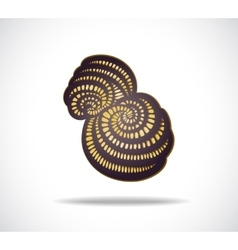 Abstract isolated violet shape vector image