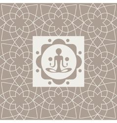 Abstract yogi yoga studio design card vector