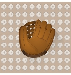 Baseball ball and glove vector