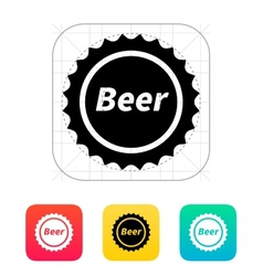 Beer bottle cup icon vector