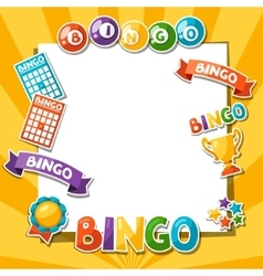 Bingo or lottery game background with balls and vector image