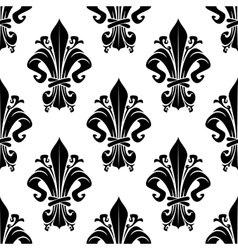Black and white vintage floral seamless pattern vector