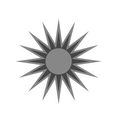 Black design element icon sun vector