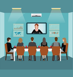 Business meeting design with business people vector