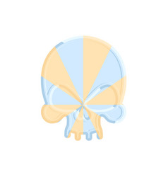 Caramel skull sweet skeleton head halloween scary vector