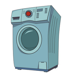 Cartoon image of washing machine vector
