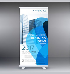 Creative business roll up banner design template vector