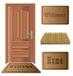 Door mat set vector image