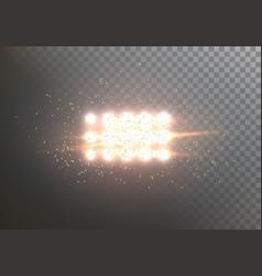 Flash light lens flare transparent explosion vector