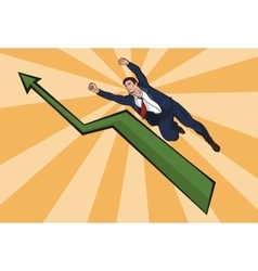 flying up businessman The increase in business vector image vector image
