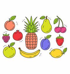 Fruits icon set vector