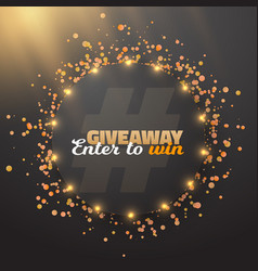 Giveaway button template vector