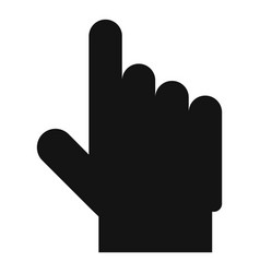 hand cursor website icon simple black style vector image
