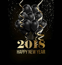 happy new year 2018 christmas ball balloon vector image vector image