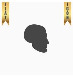 head flat icon vector image