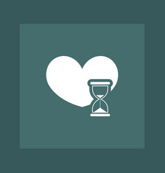 Heart icon simple vector