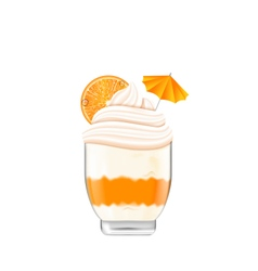 Icecream with Whipped Cream vector image