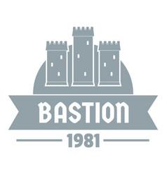 Kingdom bastion logo simple gray style vector