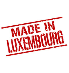 Made in luxembourg stamp vector