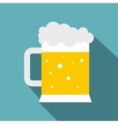 Mug of beer icon flat style vector image