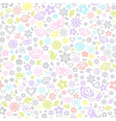 Multicolored seamless pattern of flowers vector image vector image