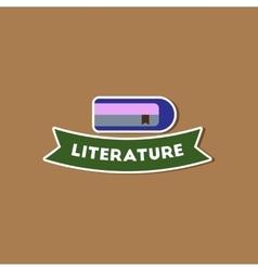 Paper sticker on stylish background literature vector
