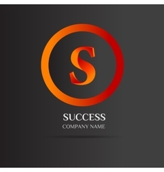 S Letter logo abstract design vector image vector image