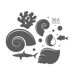 Sea Icon set Reef vector image vector image