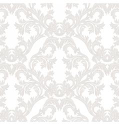 Vintage baroque floral damask pattern vector