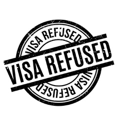 Visa refused rubber stamp vector