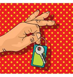 Holding keys vector image
