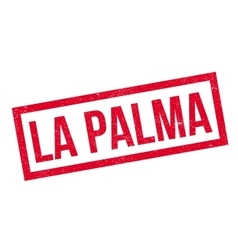 La palma rubber stamp vector
