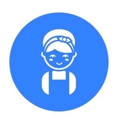 Housewife black icon for web and vector image
